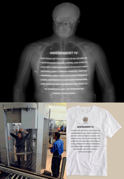 4th Amendment Wear: X-ray scanner + metallic ink - from cargocollective