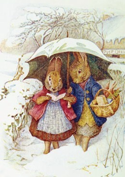 errolivia:  Ahh a Beatrix Potter Christmas Card!