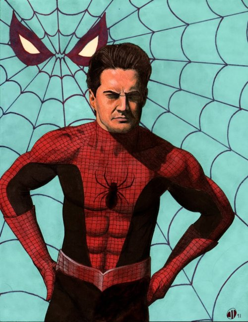 David Lynch's Spider-Man by Scorpio Steele Via timetravelandrocketpoweredapes