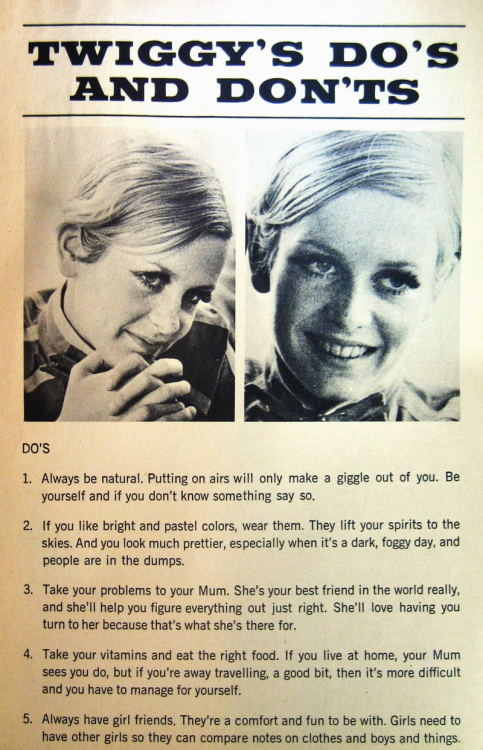 When stumbling across the other Twiggy picture I found this. I just loved it to be honest!
