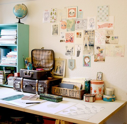 Beautiful Cluttered Workspace | papernstitch