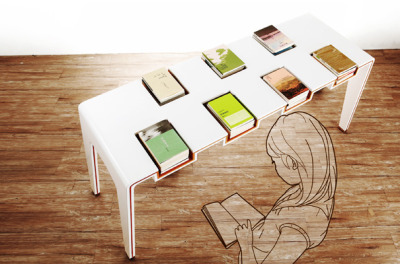 Exhibi-Table for Library by Lu Chieh-Hua & Cheng Tzu
