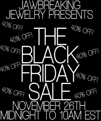 BLACK FRIDAY SALE JUST STARTED! Use the code BLACKFRIDAY at checkout to receive 40% off! From now til 10am EST! Merry Christmas ;) XxAly