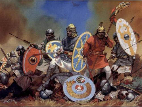 Role In The Fall Of Rome:Some of the Germanic tribes are frequently credited in popular depictions of the decline of the Roman Empire in the late 5th century. Professional historians and archaeologists have since the 1950s shifted their interpretations in such a way that the Germanic peoples are no longer seen as invading a decaying empire but as being co-opted into helping defend territory the central government could no longer adequately administer. Individuals and small groups from Germanic tribes had long been recruited from the territories beyond the limes (i.e., the regions just outside the Roman Empire), and some of them had risen high in the command structure of the army. Then the Empire recruited entire tribal groups under their native leaders as officers. Assisting with defense eventually shifted into administration and then outright rule, as Roman government passed into the hands of Germanic leaders. Odoacer, who deposed Romulus Augustulus, is the ultimate example. The presence of successor states controlled by a nobility from one of the Germanic tribes is evident in the 6th century - even in Italy, the former heart of the Empire, where Odoacer was followed by Theodoric the Great, king of the Ostrogoths, who was regarded by Roman citizens and Gothic settlers alike as legitimate successor to the rule of Rome and Italy.