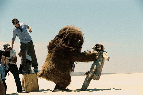 Spike Jonze and Max Records (Where the Wild Things Are, 2009)