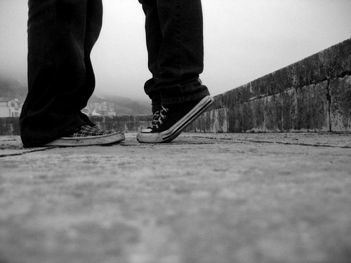 …this is so me …chuck taylors and a taller guy :)