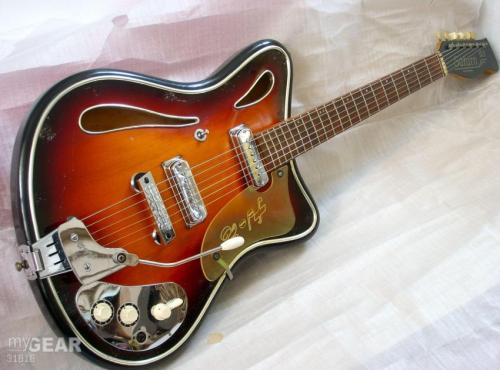 c 1964 Hopf Saturn 63. Yet another german quality guitar from the 60s. Eastman did a reissue of this guitar in 2006.