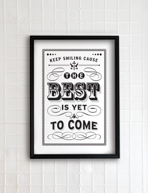 iloveetsy:  The Best is yet to come 13x19 vintage collection by evajuliet