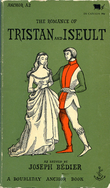 The Romance of Tristan and Iseult as retold by Joseph Bédier, cover illustrated by Edward Gorey published 1955.