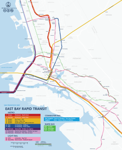 The East Bay 2030.  The second of three detailed maps of my brilliant plan to revolutionize how the Bay Area gets around.