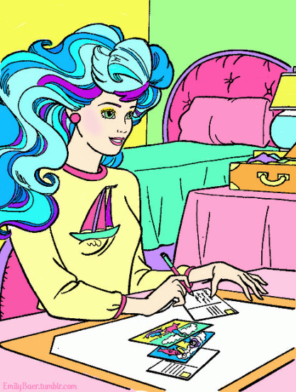 Another 80s Barbie coloring page I did.