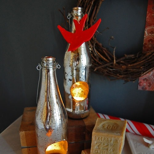recycled bottle votives (via {re}define)