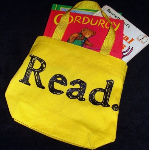 """Book Bag"" by gibberish2 on Etsy … (To carry around my suggestions!) ;)"