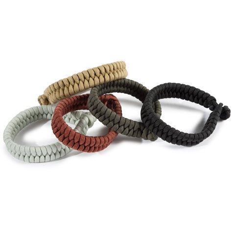 Flat Braid Bracelet by Woodlands Supply Co. Editor's Note: Good news, everybody! Paracord bracelets are now apparently fashionable. inb4 paracord bowties.