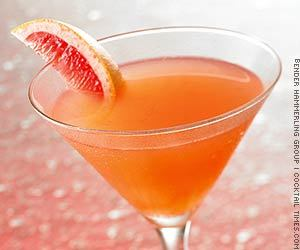 Spicy Citri-Politan Ingredients:- 4 parts lemon flavored vodka- 2 parts pink triple sec- 1 parts pink grapefruit juice- 1 tsp superfine sugar- 1/2 tsp Frank's Redhot Chilie 'n Lime hot sauceMix all ingredients in a cocktail shaker with ice. Strain into a chilled martini glass. Garnish with a grapefruit wedge.