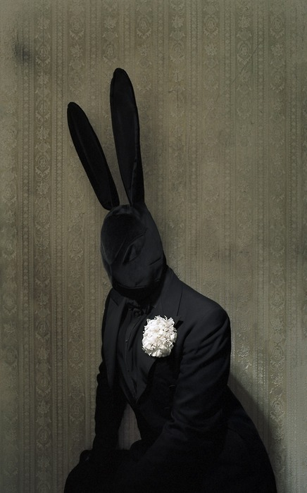 luceplace:  Sunday best Black Bunny, by Matthu Placek Via Chateau Thombeau