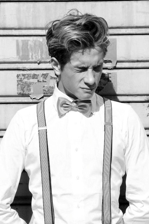 "GOING PAST THE FACADE. Suspenders and a bow tie? Like I said before, ""balls the size of grapefruits."" [Culture]In the same way people use pop culture to discredit a look (""I'll look like Colonel Sanders""), you could easily use pop culture to boost its appeal; the popular one of late, ""oh, Kanye did it."" As contradictory as culture can be, you'd think it's appeal wouldn't hold as much weight as it does. And yet in some frustrating way, to me at least, it maintains hold over the masses. [Making It Work]People like to throw around the word ""confidence"" as if the word alone offers some sort of measurable guide to pulling something like this off. Acceptance, for one, would be a better suggestion. Acceptance that you're not someone else. And using what you've got. In this picture, boyish charm and great hair just amplified what was already there… [ramon] p.s. Feel free to drop comments now that I've added Disqus to the site."