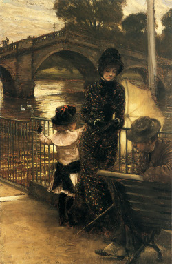 welovepaintings:  James Jacques Joseph Tissot (1836-1902)By the Thames at RichmondOil on canvasc1878-c1879Private collection  [REBLOGGING] Appreciation