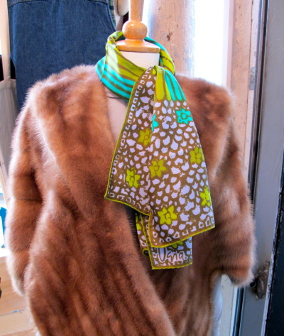vintage minks & vera scarves for, we suppose, a mad men-inspired lady on your holiday list.