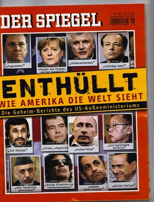 Cover of Tomorrow's Spiegel via cache.gawker.com