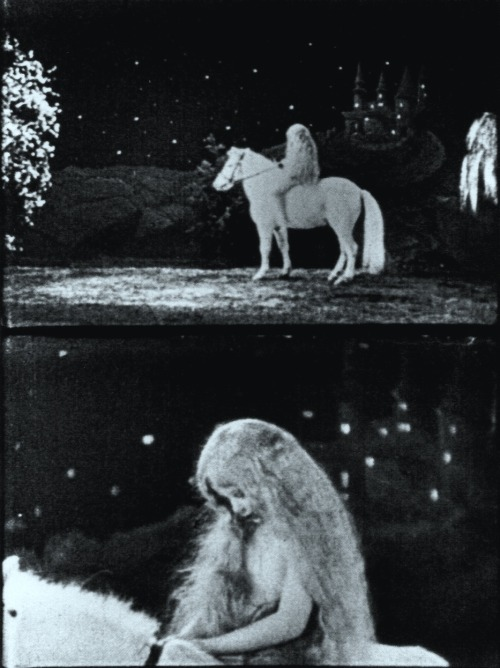 "The Midnight Party (1938, dir. Joseph Cornell) ""Among the barren wastes of the talking films there occasionally occur passages to remind one again of the profound and suggestive power of the silent film to evoke an ideal world of beauty, to release unsuspected floods of music from the gaze of a human countenance in its prism of silver light."" -Joseph Cornell, Enchanted Wanderer"