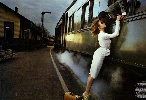 anaistheninja:  Each time we say goodbye. Tumblr fantasy meets TGV reality at Gare de Lyon :) In reality it's always rushing late to the station…and forgetting your toothbrush or something trivial. But we have fun don't we? :) Anais xx