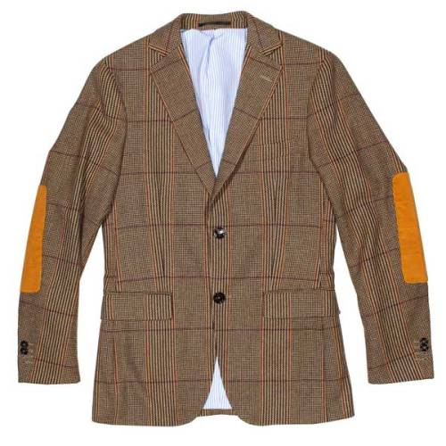 It's On Sale Gant Gun Check Sportcoat (Sz 38) I love the big squared-off elbow patches that Michael Bastian has been doing lately, and have been toying with the idea of stealing the idea for one of my coats.  Total job probably wouldn't cost more than $30 or so if I can find the right coat… something to consider.  (Epaulet has a few Gant things on sale at the moment.) $560 from $800 at Epaulet