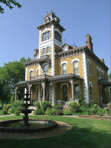 Picture of the Day is the Italian Villa style Lebold Mansion in Abilene shot by Kansas Explorer 3128.