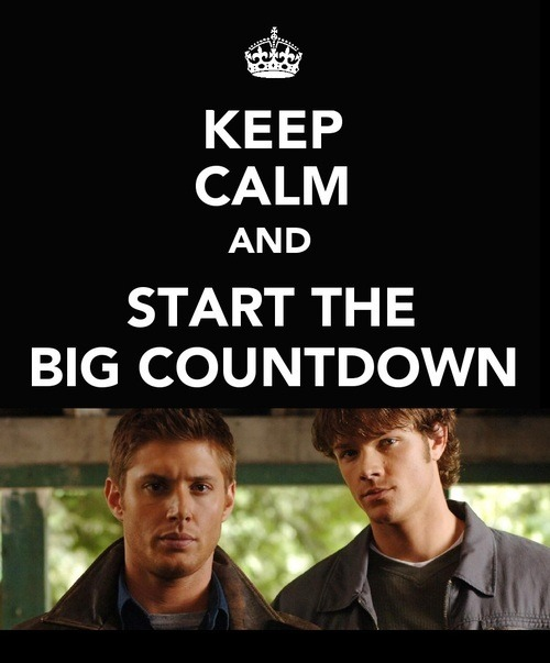 Keep calm and start the big countdown