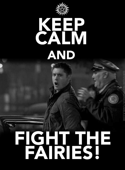 Keep calm and fight the fairies!