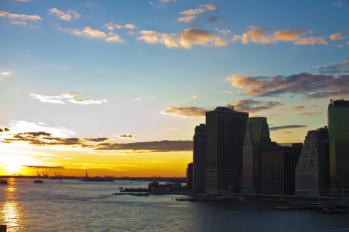 From Brooklyn Bridge.  It's been taken a million times, but this is my first.