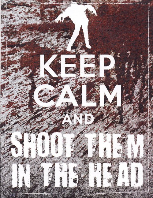 Keep calm and shoot them in the head