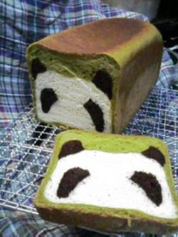 mgjlove:  Panda Bread!!! So cute <3