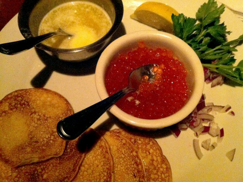 TRYING TO FORGET BLACK SWAN blinis & caviar russian vodka room, nyc 2010