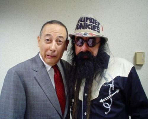 Pee-wee and Merle Allin (bass player of the Murder Junkies and brother of the late infamous shock rocker G.G. Allin)