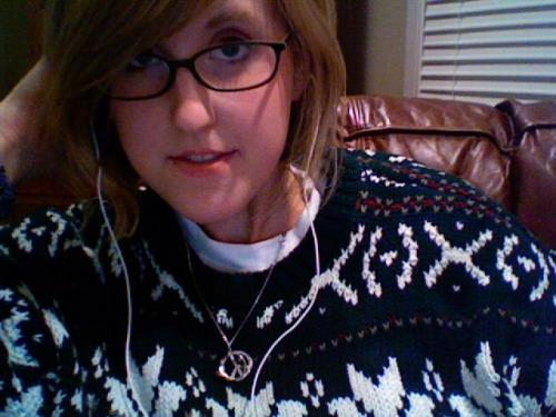 Goodwill. Boo yeah. Dad's sweater from the awkward Christmas photo.