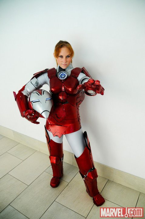 Pepper Potts as Rescue Cosplay from Lady Skywalker