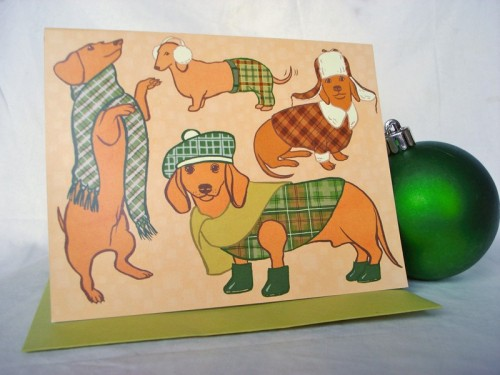 OMG IT'S A WIENER DOG CHRISTMAS!! How g-d cute are these cards?? They are from veggie artist and Vegansaurus BFF Jen Oaks, who is the most talented. Seriously, look at her stuff. JUST LOOK AT IT! Also, how amazing is this Oklahoma Animals posters? Every kid in your life needs it. And adult. And I'll take three! Seriously, email and I'll give you my address. I mean my P.O. box I DON'T KNOOOOOW YOU.*  *PSYCH! I ain't got no POB. Who do I look like? Someone who has their shit together?? No, I will give you my actual address to send love letters to/ask for money (I'm flush! act now, people!), and/or stalk and kill. Whatevs!