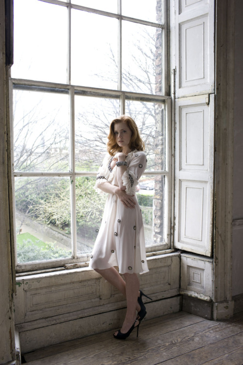 Remember the Amy Adams crush days? sheer dress by the window // paperimages