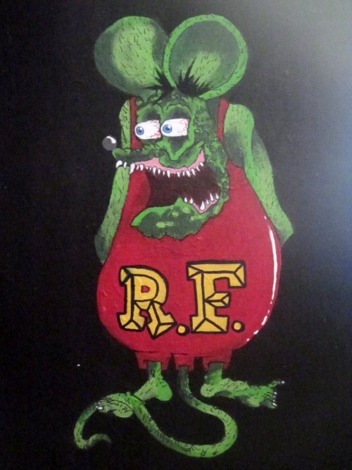 Art By Kristie California. [My version of Ed Roth's Rat Fink!].  http://www.facebook.com/KristieCaliforniaFanPage