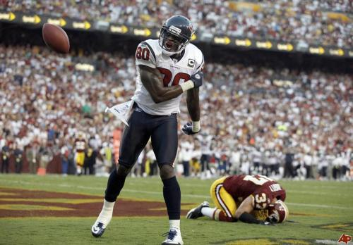 FOX's Mark Berman is reporting that Andre Johnson will only be fined for the Finnegan beat down.  He will not be suspended for roughing up the DJ Pauly D look alike. Just to set it straight.  The NFL, who on the surface is totally concerned with head injuries, will not suspend Andre Johnson for ripping an opposing player's helmet off and punching him in the head.  This has nothing to do with how the Texans play a game this coming Thursday night on the NFL network.  The fact that Johnson is far and away the biggest star on the Texans, and they will be playing on the NFL's own network has nothing to do with the lack of suspension. Nothing.