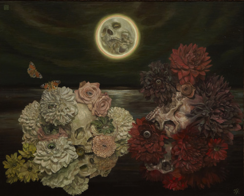 All the Flowers and Insects by Kamei Toru, oil on canvas mounted on board, 2010 Going on show at Gallery Naruyama, Tokyo, from December 6 - 21, 2010