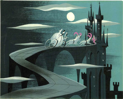 Original Concept Art for the movie Cinderella in 1950. Artist is Mary Blair.