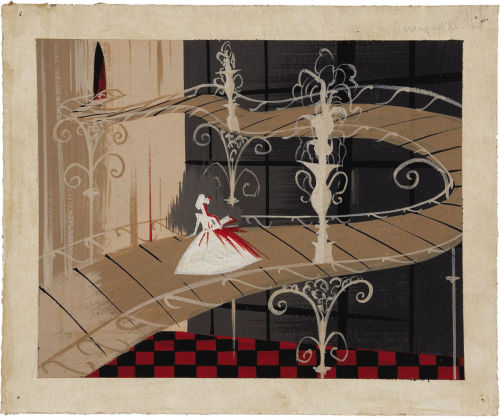 more original concept art by Mary Blair for the 1950 Disney film, Cinderella.
