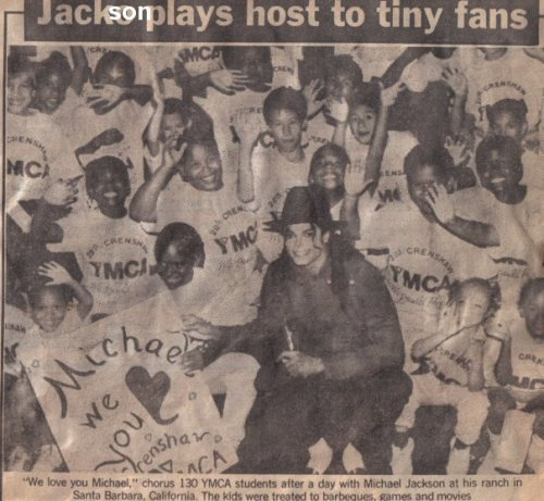 I just had to sort out the title lol   MJ showing his heart of gold <3