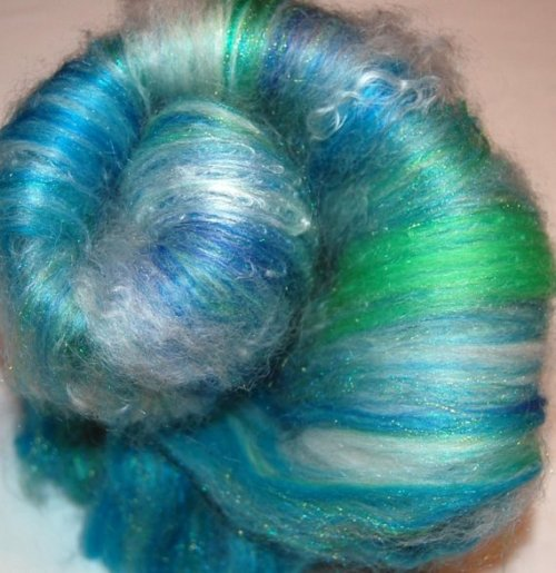 Drum Carded Baby Alpaca Mohair Hand Dyed by LaTeaDaDesigns on Etsy