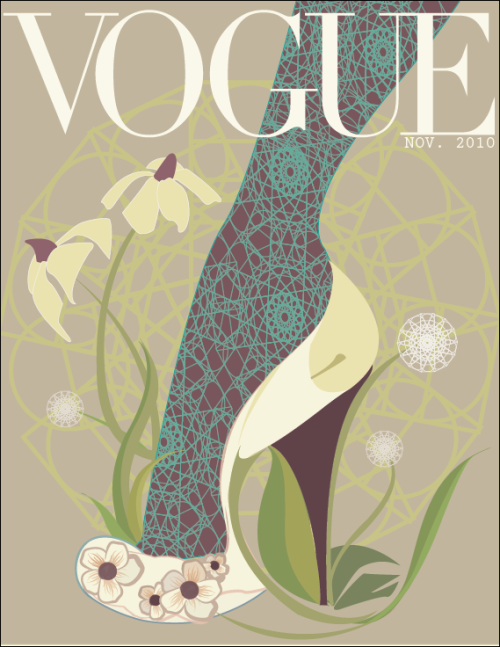 Vouge cover illustration: the Eco-Edition (without headlines) done in Illustrator