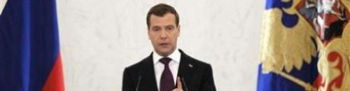 Russian president Medvedev warns of new arms race with West: Arms race? But that sounds like fun! We like walking on our hands! …  oh wait. He's talking about weapons. source Follow ShortFormBlog