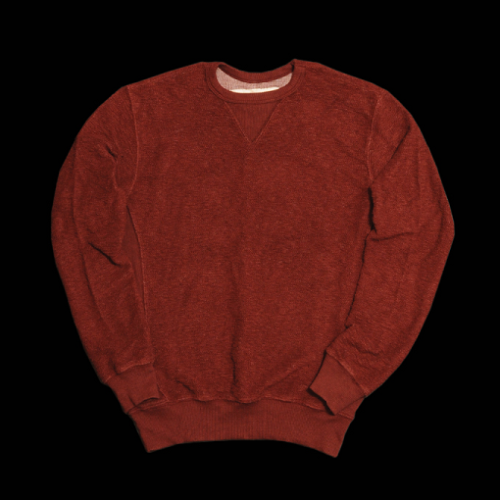 Burgundy sweatshirt from Farm Tactics, made in USA