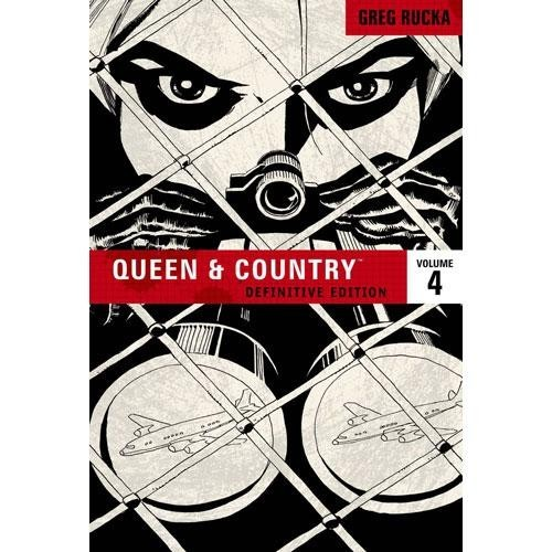 coverspy:  Queen and Country Volume 4, Greg Rucka (F, 20s, reddish brown hair, all black: nails, scarf, coat, pants, shoes, F train) http://bit.ly/hMp4Kr